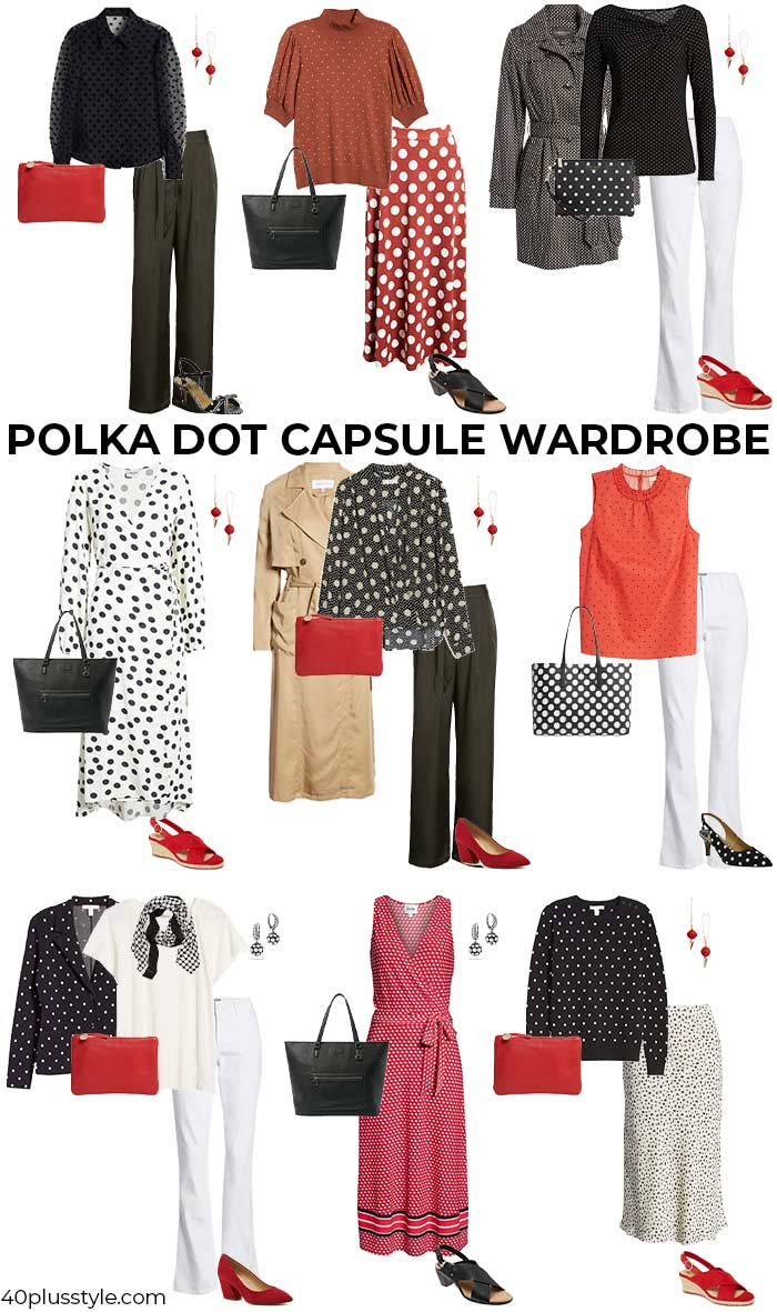 A polka dot capsule wardrobe | 40plusstyle.com