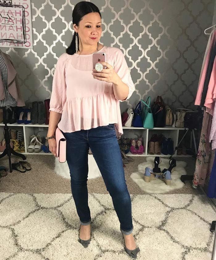peplum tops to hide a tummy | 40plusstyle.com