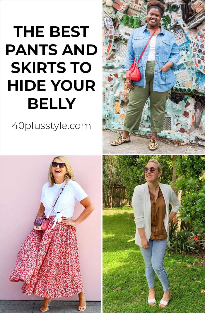 The best pants and skirts to hide your belly | 40plusstyle.com
