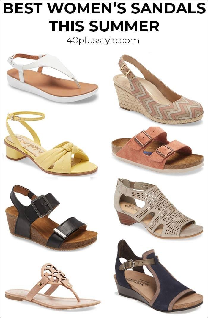 Best women's sandals this summer | 40plusstyle.com