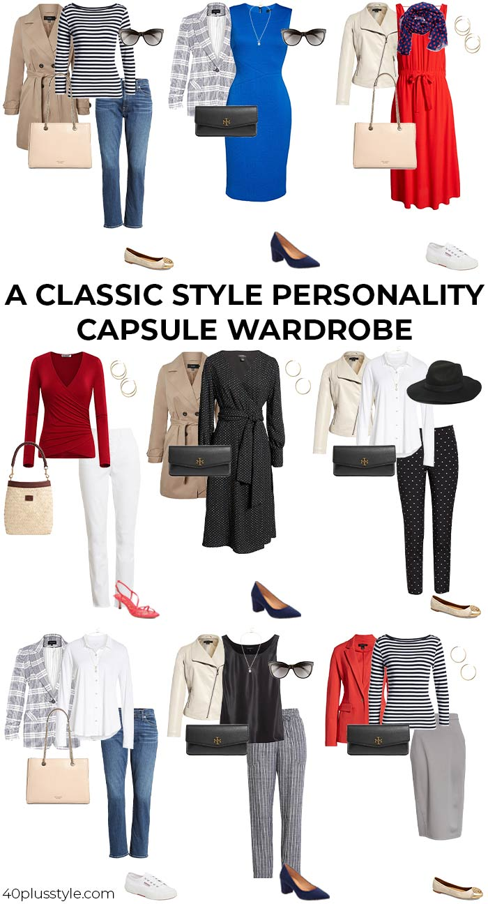 A capsule wardrobe for the CLASSIC style personality | 40plusstyle.com