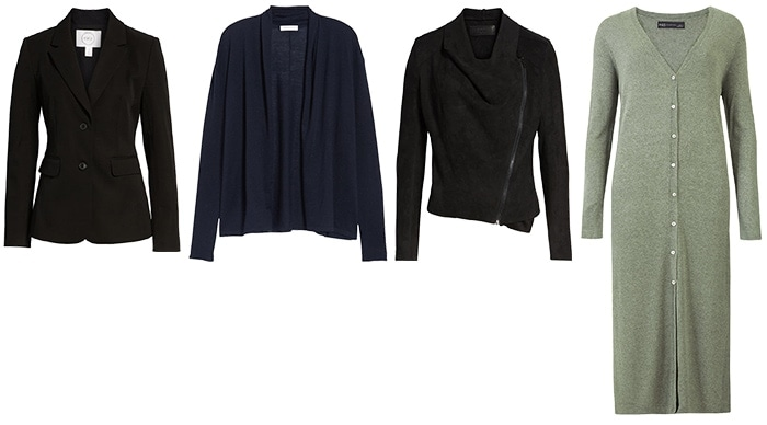 coats and jackets for the inverted triangle | 40plusstyle.com