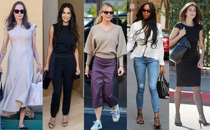 Celebrities with inverted triangle body shapes | 40plusstyle.com