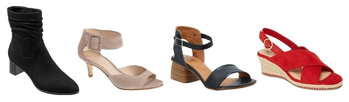 Shoes and sandals for the inverted triangle | 40plusstyle.com