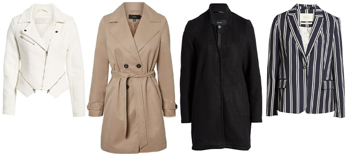 Coats and jackets for the rectangular body | 40plusstyle.com