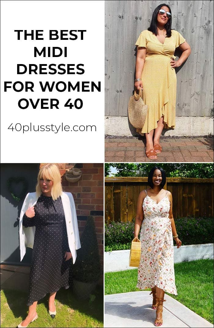 The midi dress is back and we show you the best midi dresses for women over 40 | 40plusstyle.com