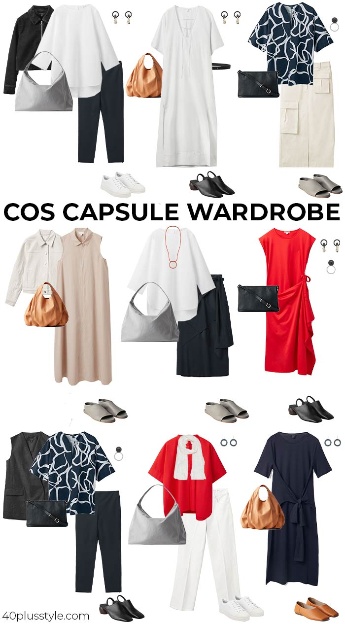 A capsule wardrobe from COS for summer | 40plusstyle.com