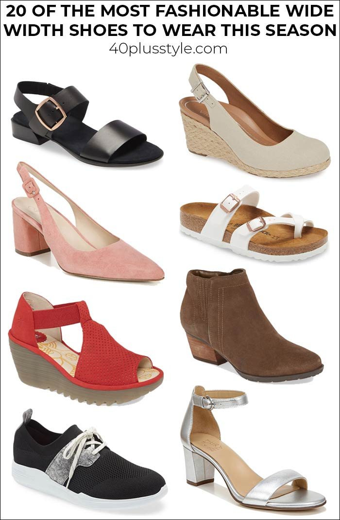Stylish women's shoes for wide feet: 20 of the most fashionable wide width shoes to wear this season | 40plusstyle.com