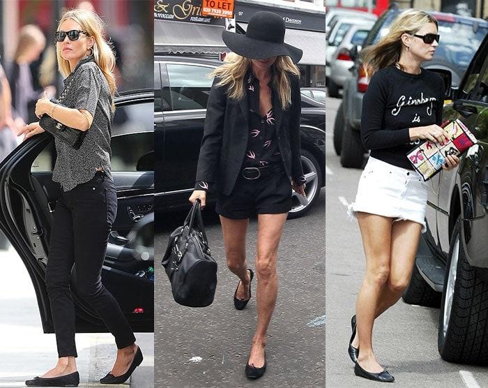 Kate Moss in Repetto 'Cendrillon' flats | 40plusstyle.com