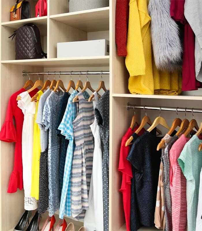 How to find lots of new outfit ideas through re-arranging your closet