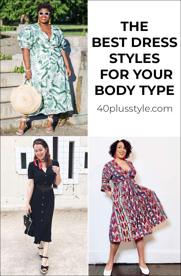 The best dress styles for your body shape | 40plusstyle.com