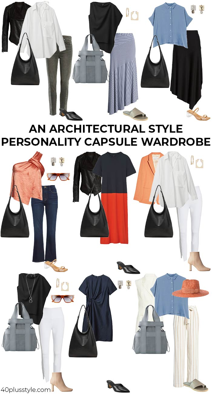 A capsule wardrobe for the architectural style personality   40plusstyle.com