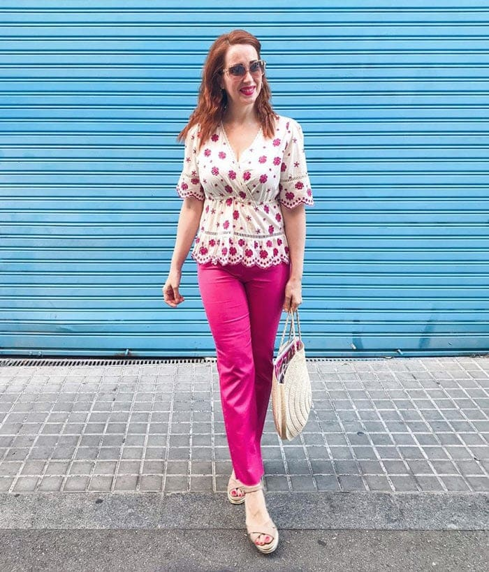 How to wear pink - Patricia wears pink and white | 40plusstyle.com