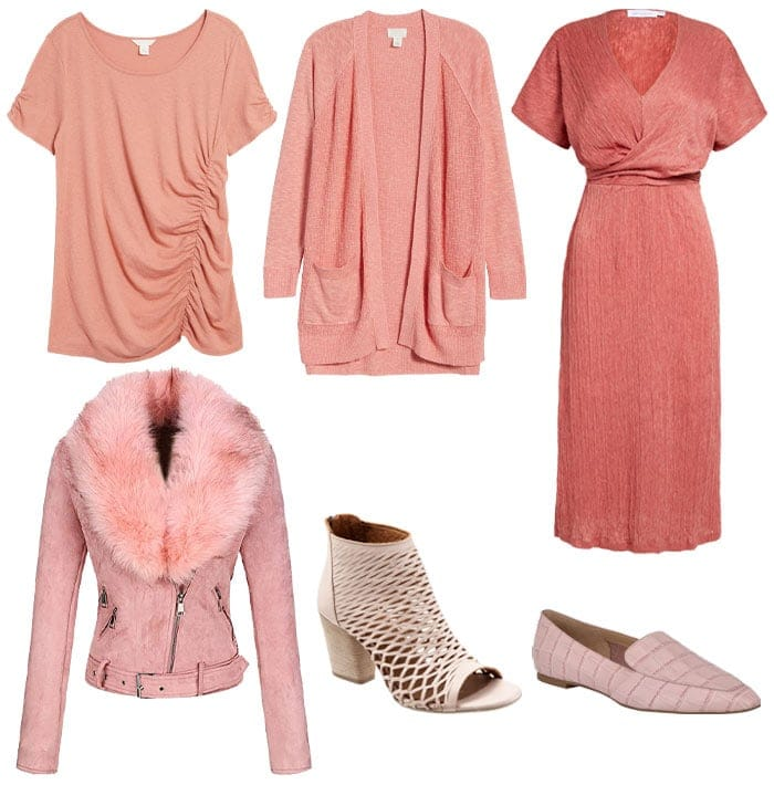 Textured pink clothes and accessories | 40plusstyle.com