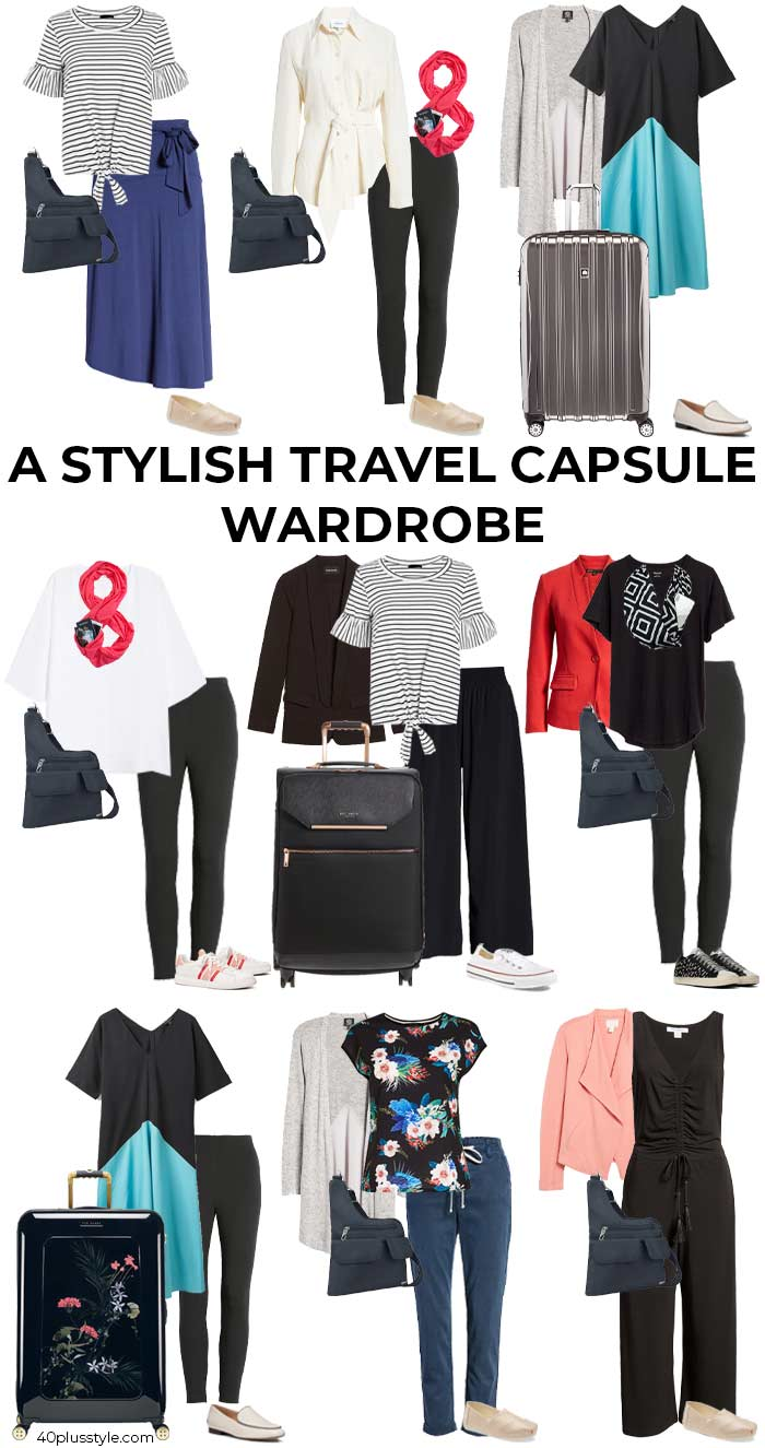 Stylish Travel Clothes for Women Capsule | 40plusstyle.com
