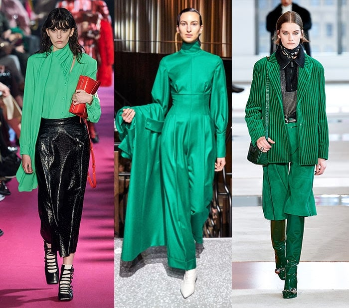 Fall clothing colors - emerald green for fall 2020 | 40plusstyle.com