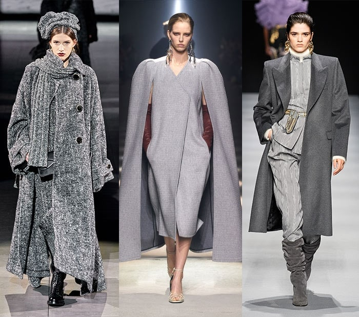 shades of gray on the 2020 runway shows for fall | 40plusstyle.com