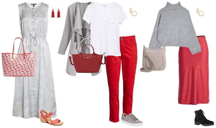 How to wear red and gray   40plusstyle.com