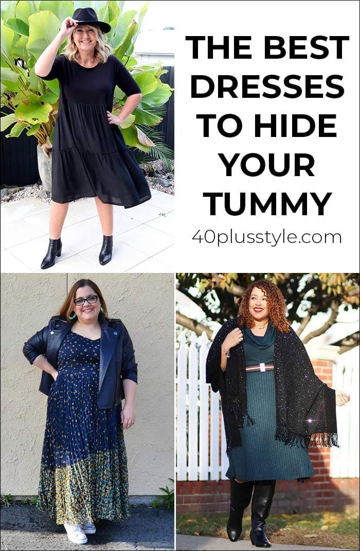 The best dresses to hide your tummy | 40plusstyle.com