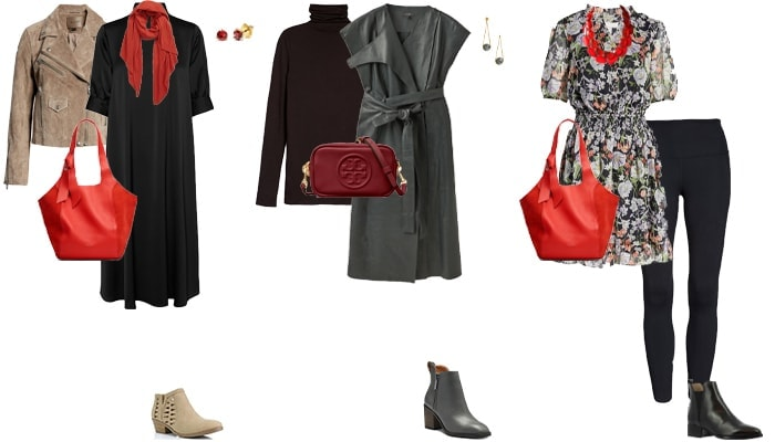 Booties and dresses outfit ideas | 40plusstyle.com