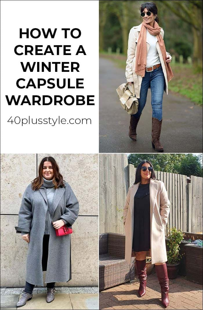 How to create the perfect winter capsule wardrobe to keep you cozy and chic in colder weather | 40plusstyle.com