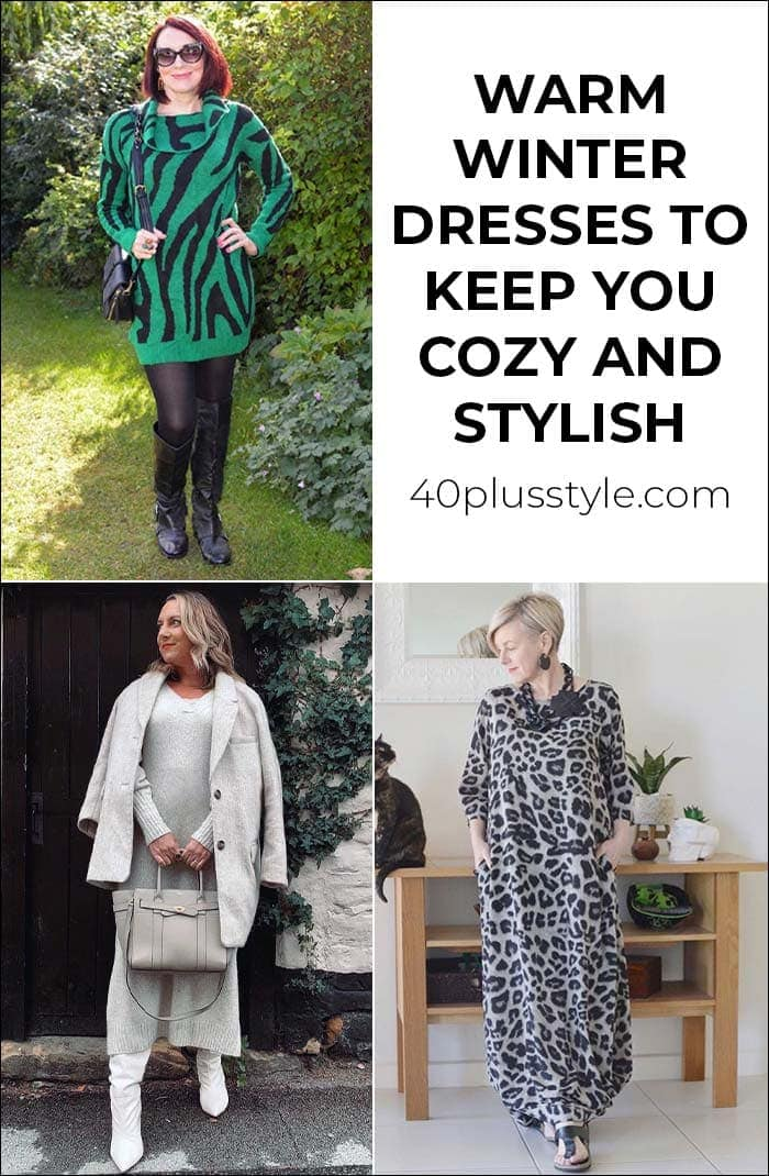 Warm winter dresses to keep you cozy and stylish no matter what the weather | 40plusstyle.com
