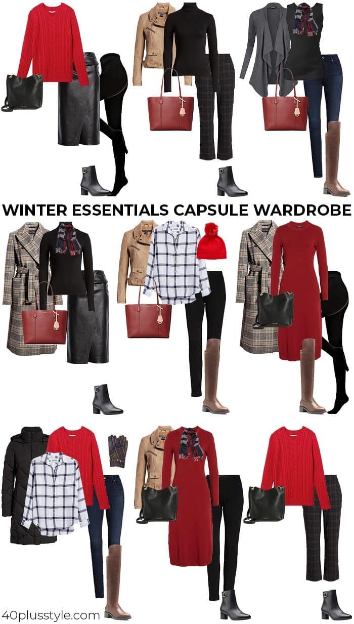 Winter essentials capsule wardrobe   40plusstyle.com