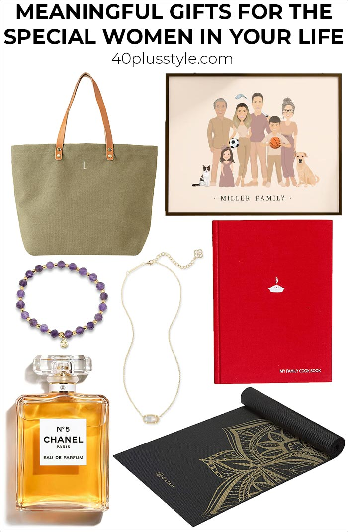 Meaningful gifts for the special women in your life | 40plusstyle.com