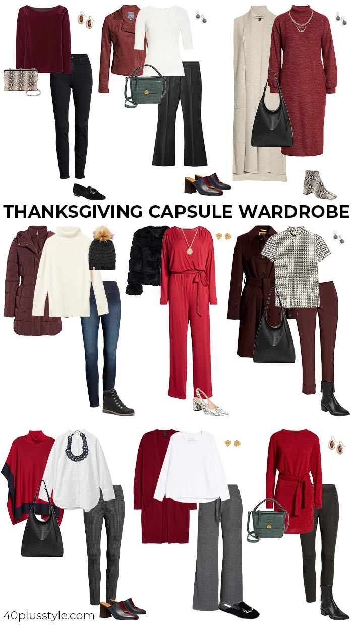 A Thanksgiving capsule wardrobe | 40plusstyle.com