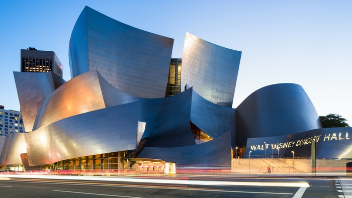 Modern architecture building of Walt Disney Concert Hall