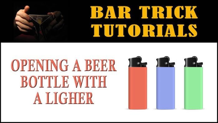 how to open a beer bottle with a lighter