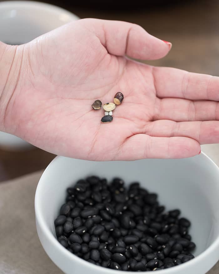 How to sort black beans, bad beans. Maybe not even actual beans.