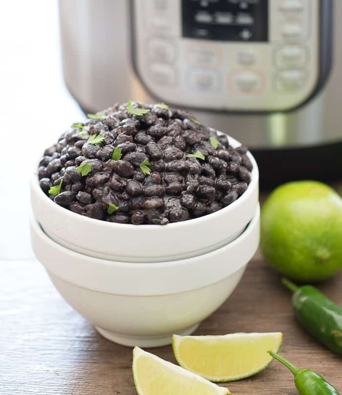 Instant Pot Black Beans ready to eat
