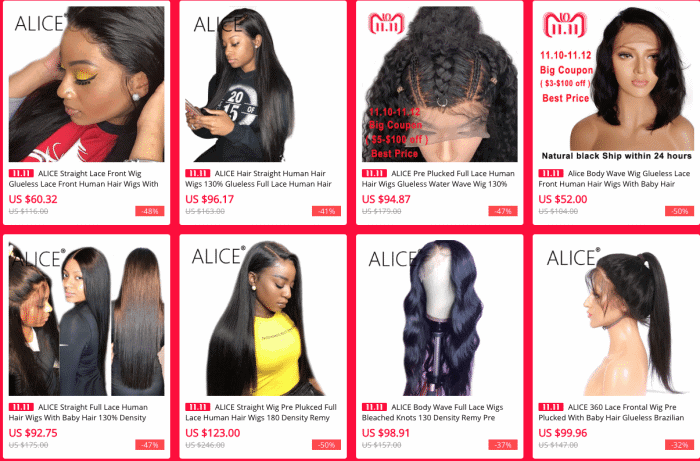 aliexpress best lace wig vendor