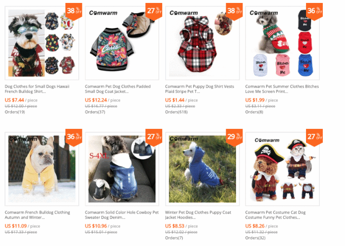 cheap dog clothes online for sale