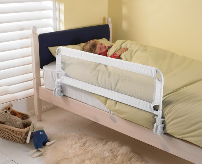 Children's steel nylon cloth bed guardrail