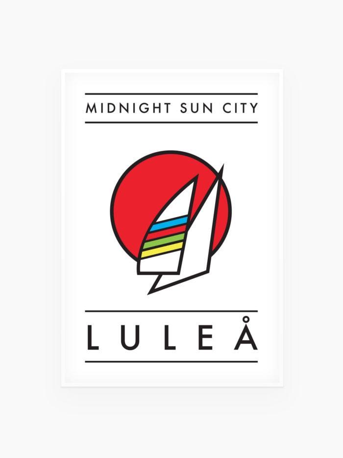 Midnight sun city - Luleå Poster / tavla - Burban Studios