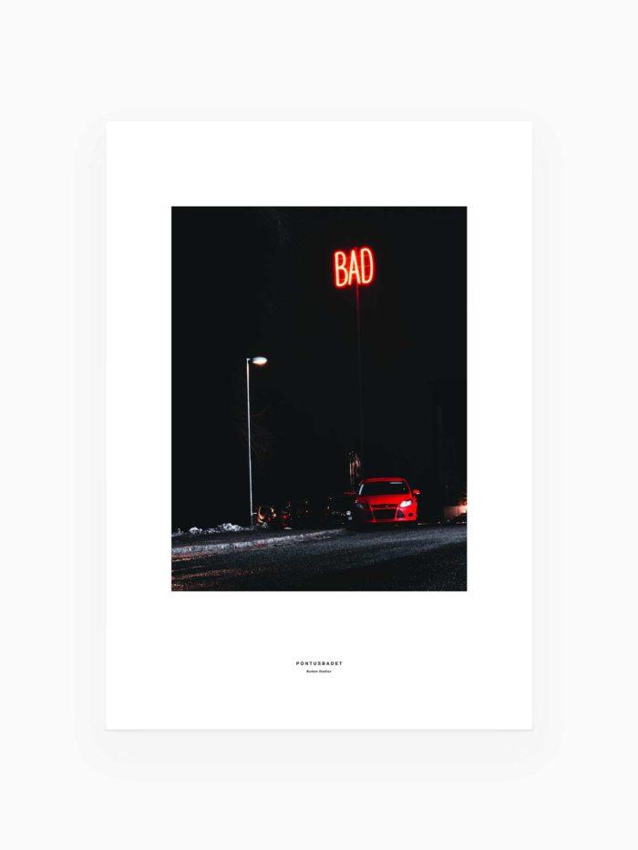 Pontusbadet BAD skylt Luleå Burban Studios