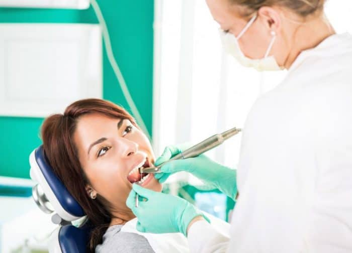 woman getting dental treatment