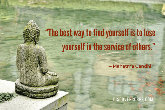 "Quotes About Volunteering ""The best way to find yourself is to lose yourself in the service of others."""