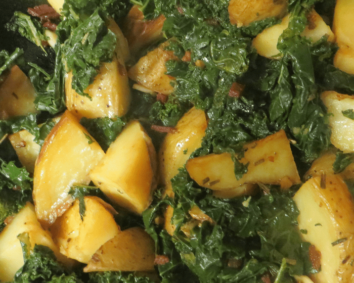 Kale and potatoes closer look1