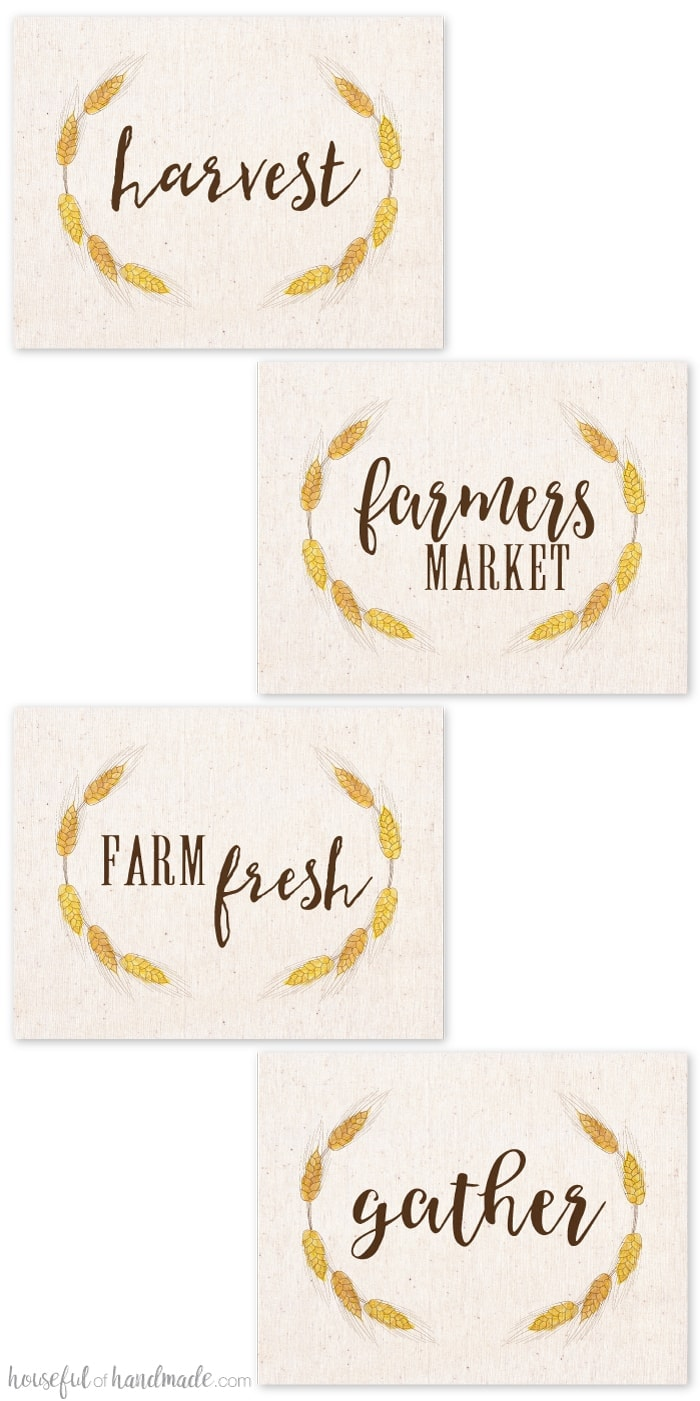 image about Free Printable Farmhouse Signs referred to as Free of charge Printable Slide Farm Indications - Houseful of Do-it-yourself