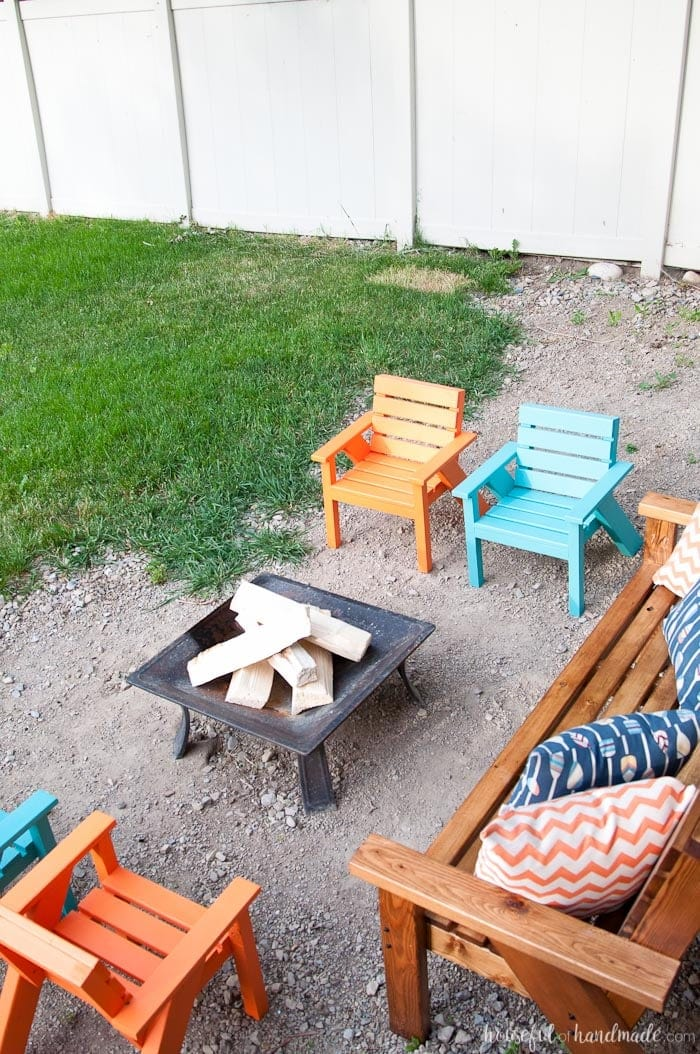 Easy DIY Kids Patio Chairs