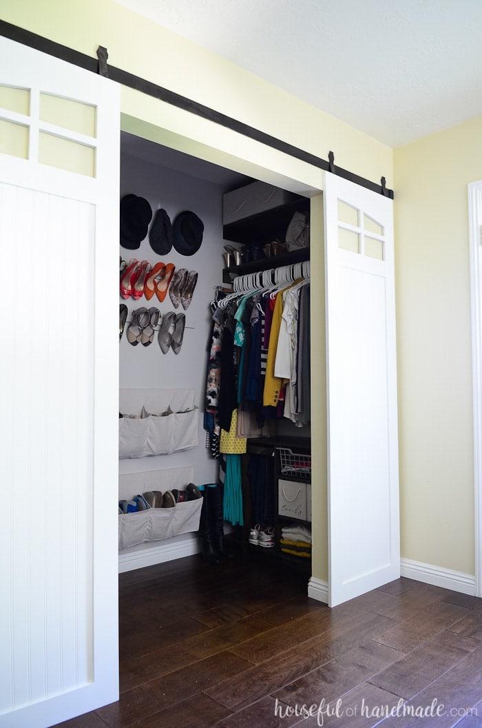 Superb Closet Sliding Barn Doors Build Plans Houseful Of Handmade Home Interior And Landscaping Oversignezvosmurscom