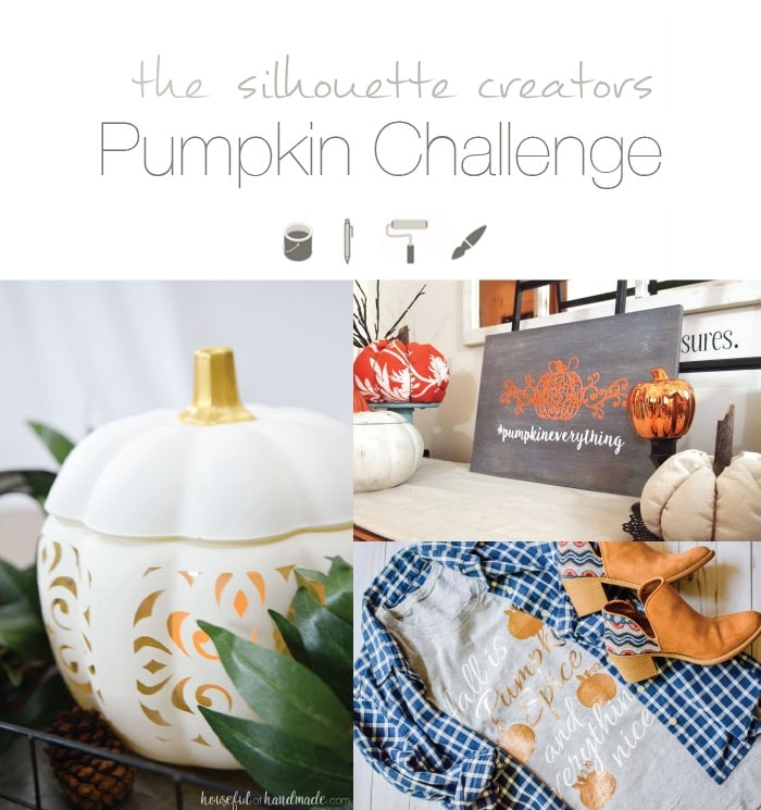 Get ready for fall with your Silhouette Cameo! We have 3 fun pumpkin themed projects in this month's Silhouette Creator's Challenge.