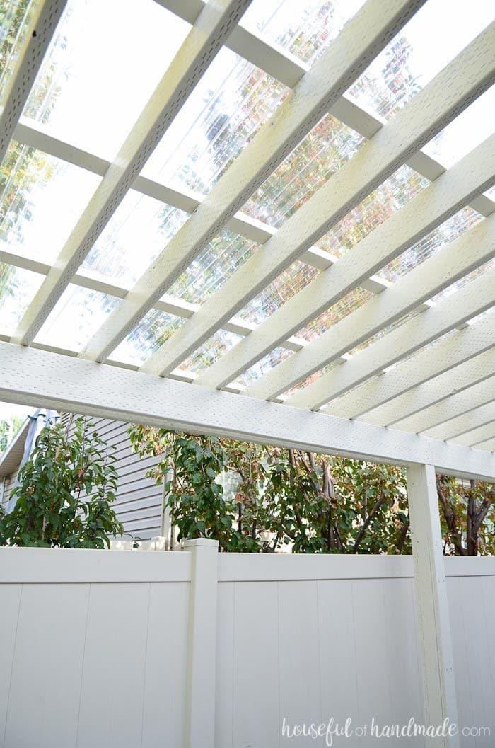Installing A Clear Pergola Roof Houseful Of Handmade