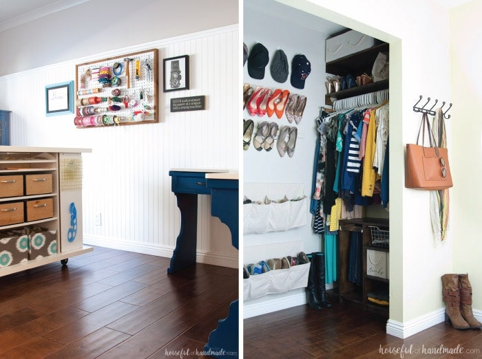 Can you believe these rooms were remodeled for only $100? You have to see the before pictures to believe it. Housefulofhandmade.com