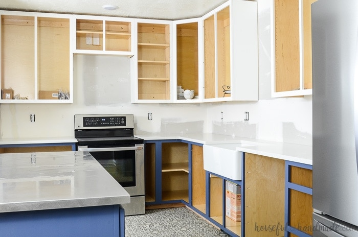 How to Paint Unfinished Cabinets - Budget Kitchen Remodel ...