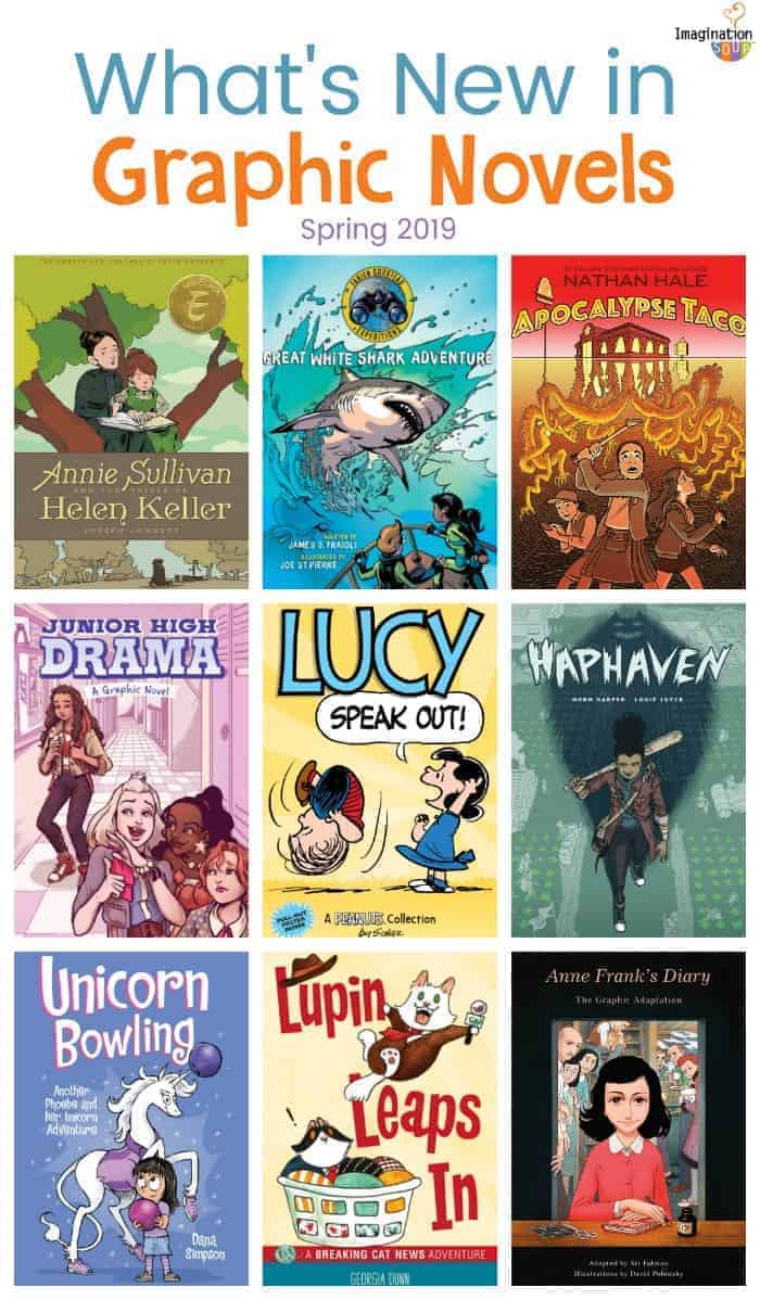 new graphic novels for ages 8 - 15, spring 2019
