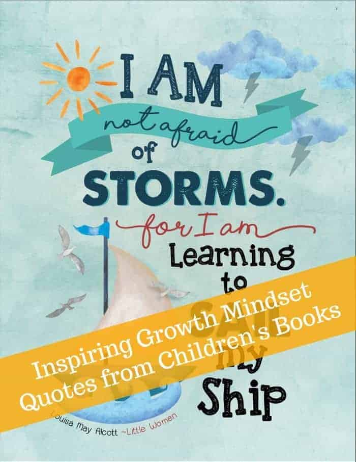 Growth Mindset Posters: Quotes From Children's Books